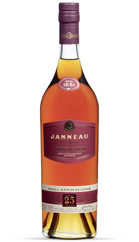 25 years single distillery armagnac janneau
